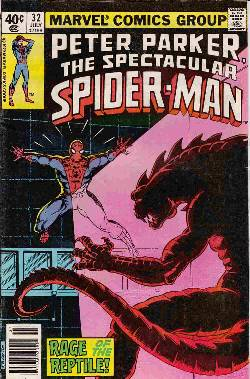 Peter Parker Spectacular Spider-Man #32 Newsstand [Comic] LARGE