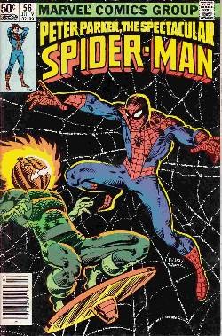 Peter Parker Spectacular Spider-Man #56 Newsstand [Comic] LARGE