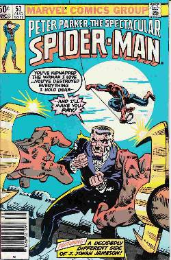 Peter Parker Spectacular Spider-Man #57 Newsstand [Comic] LARGE
