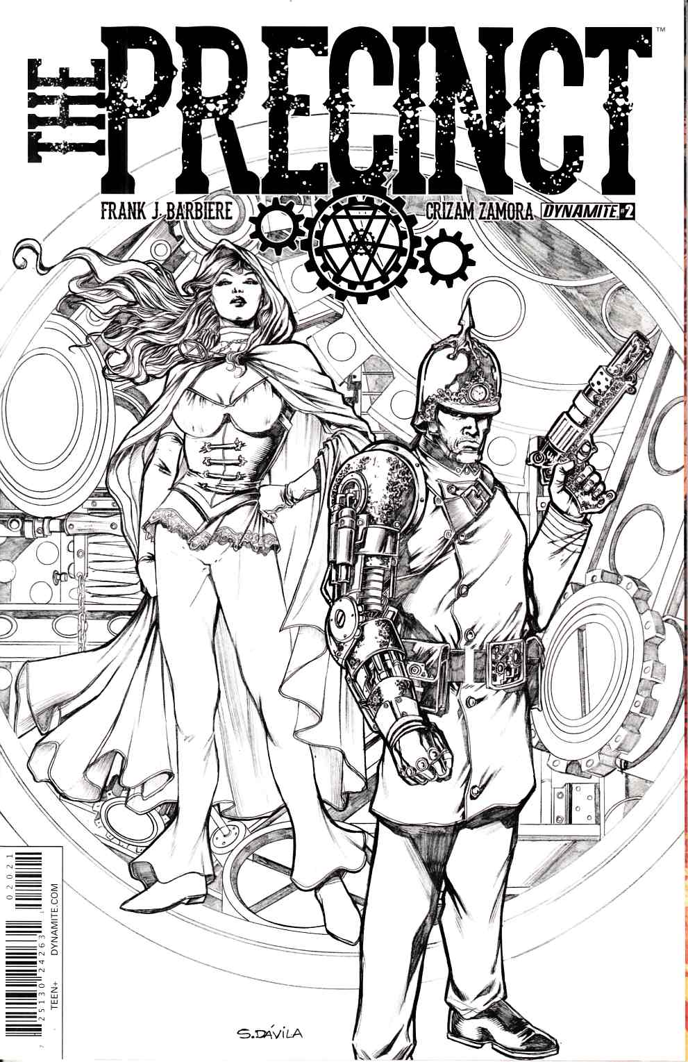 Precinct #2 Cover B- Davila B&W Incentive [Dynamite Comic] LARGE