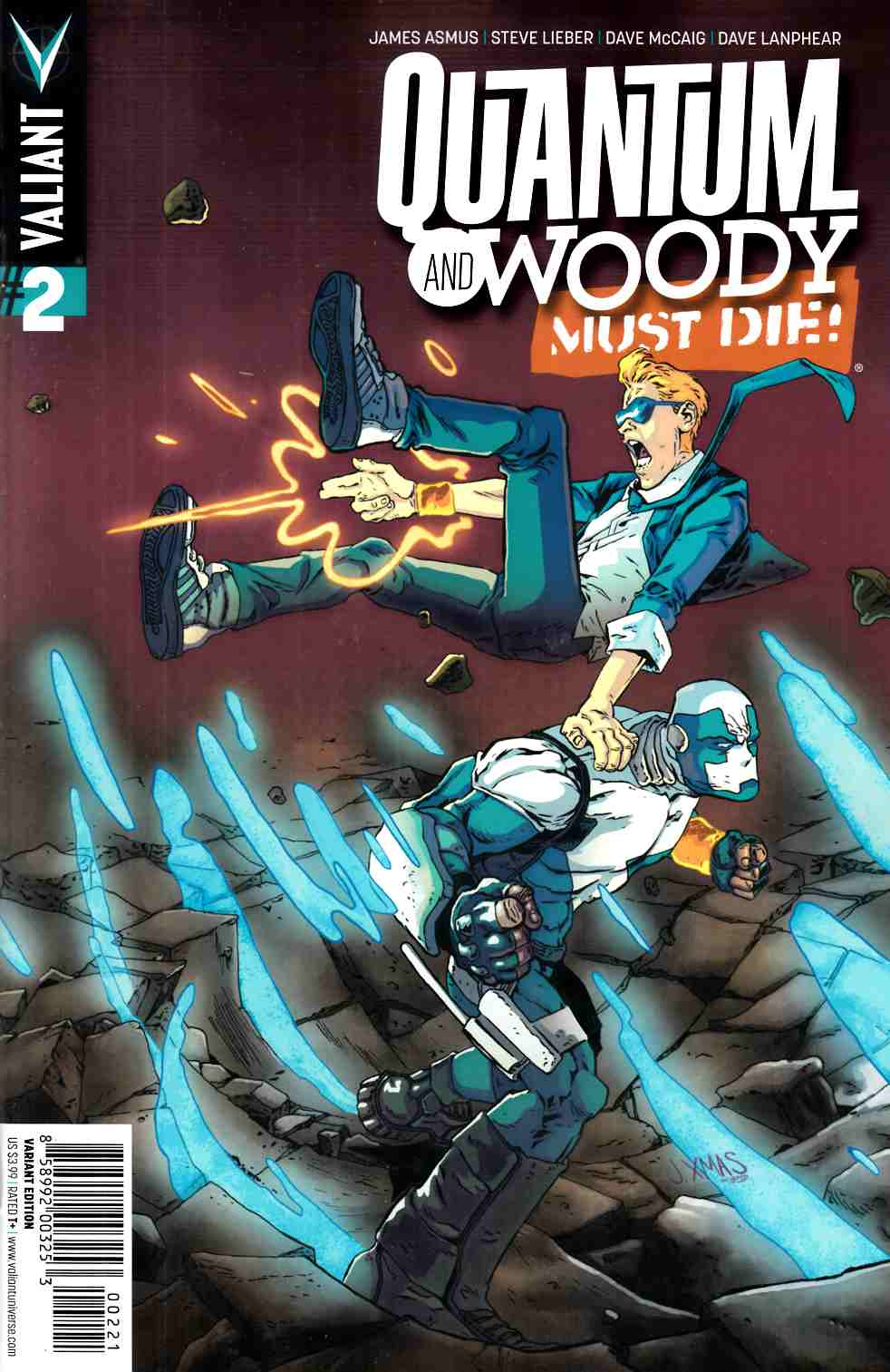 Quantum & Woody Must Die #2 Cover B- Christmas [Valiant Comic]_THUMBNAIL