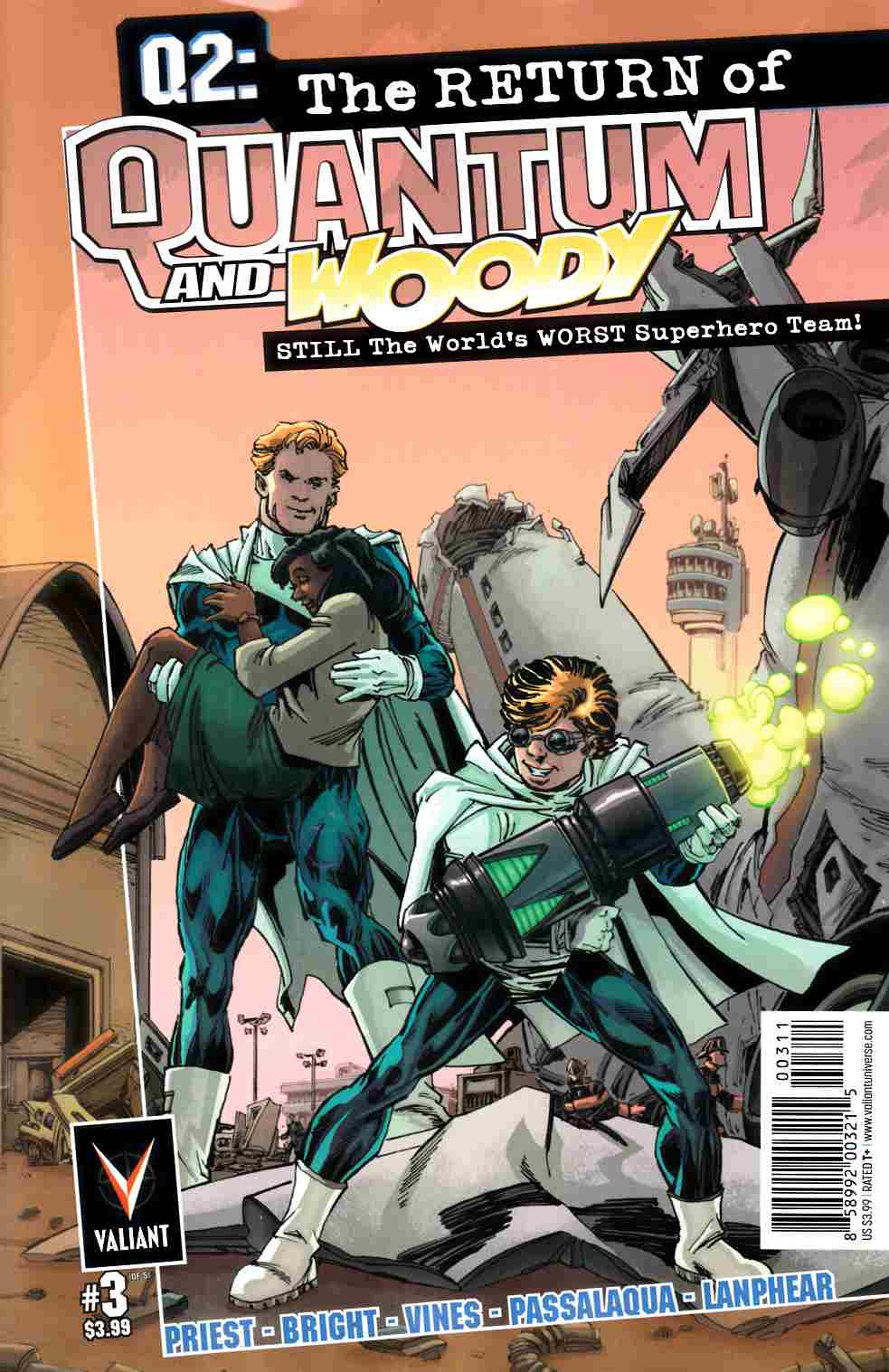 Q2 Return of Quantum & Woody #3 Cover A- Bright [Valiant Comic] LARGE