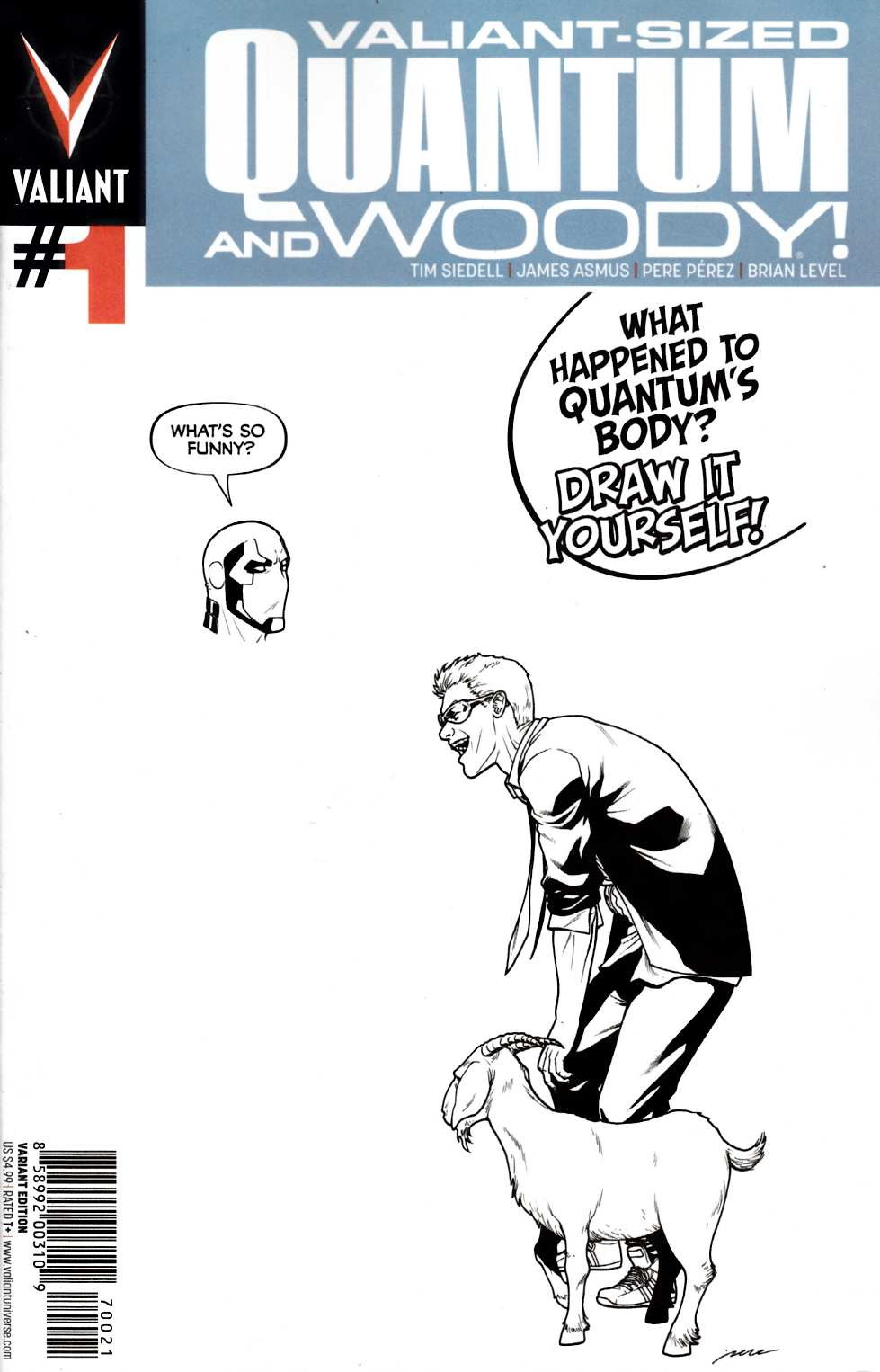 Valiant Sized Quantum & Woody #1 Cover B- Blank Perez [Valiant Comic] THUMBNAIL