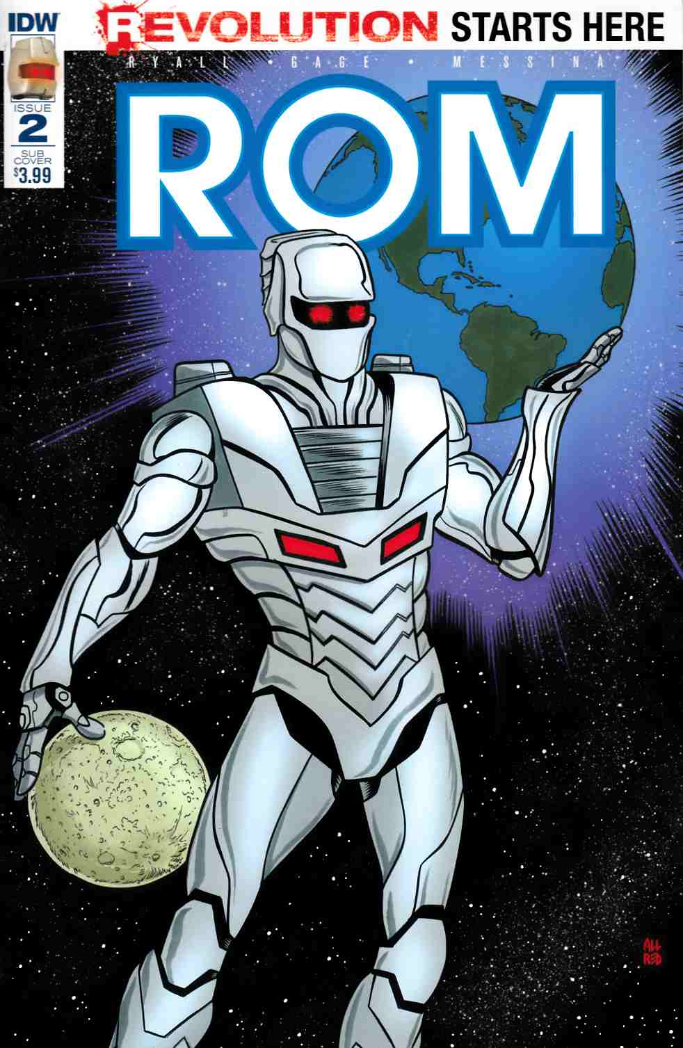 Rom #2 Subscription Cover A [IDW Comic] LARGE