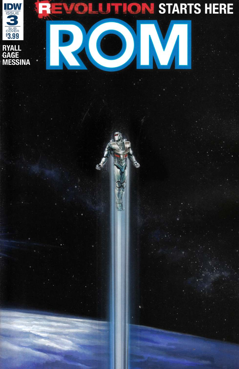 Rom #3 Subscription Cover B [IDW Comic] LARGE