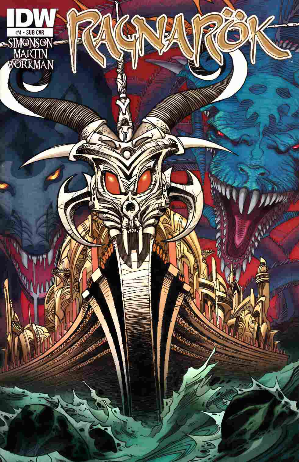 Ragnarok #4 Subscription Cover [IDW Comic] THUMBNAIL