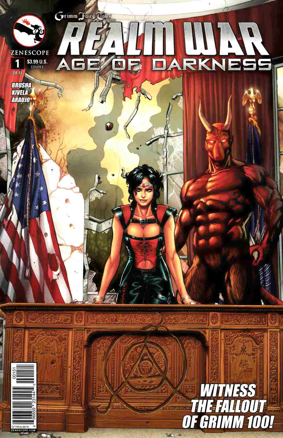 GFT Realm War #1 Cover E- Spay [Zenescope Comic] LARGE