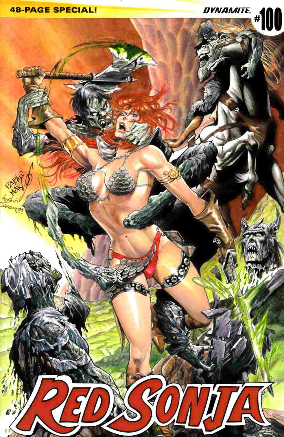 Red Sonja #100 Cover E- Marcos Subscription [Dynamite Comic] THUMBNAIL