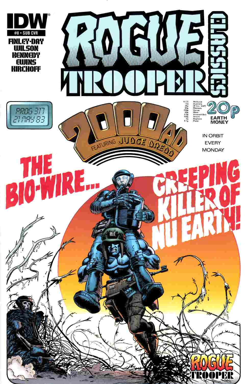 Rogue Trooper Classics #8 Subscription Cover [IDW Comic]