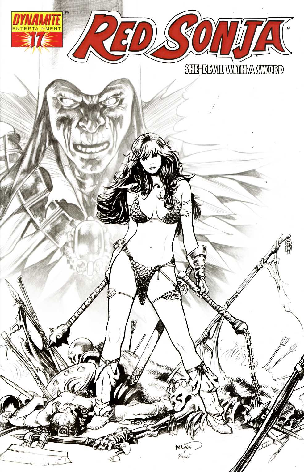 Red Sonja #17 Renaud Sketch Variant Cover Very Fine (8.0) [Dynamite Comic] THUMBNAIL
