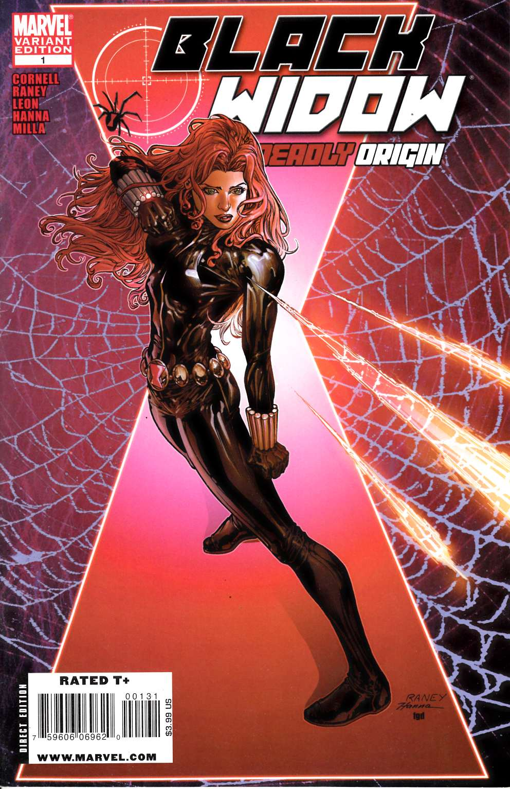 Black Widow Deadly Origin #1 Raney Variant Cover Near Mint (9.4) [Marvel Comic] LARGE