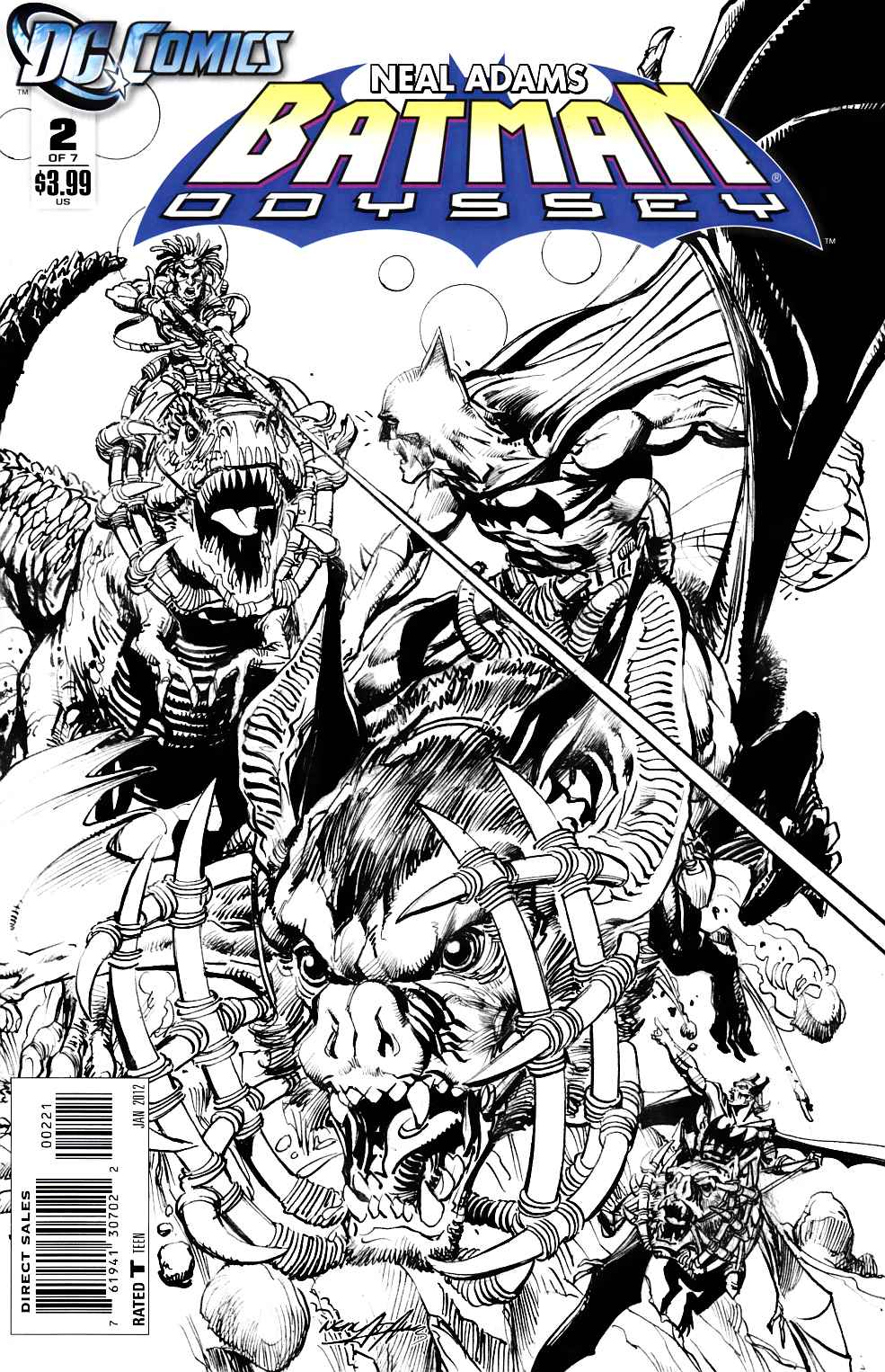 Batman Odyssey Vol 2 #2 Adams B&W Variant Cover Near Mint (9.4) [DC Comic] THUMBNAIL