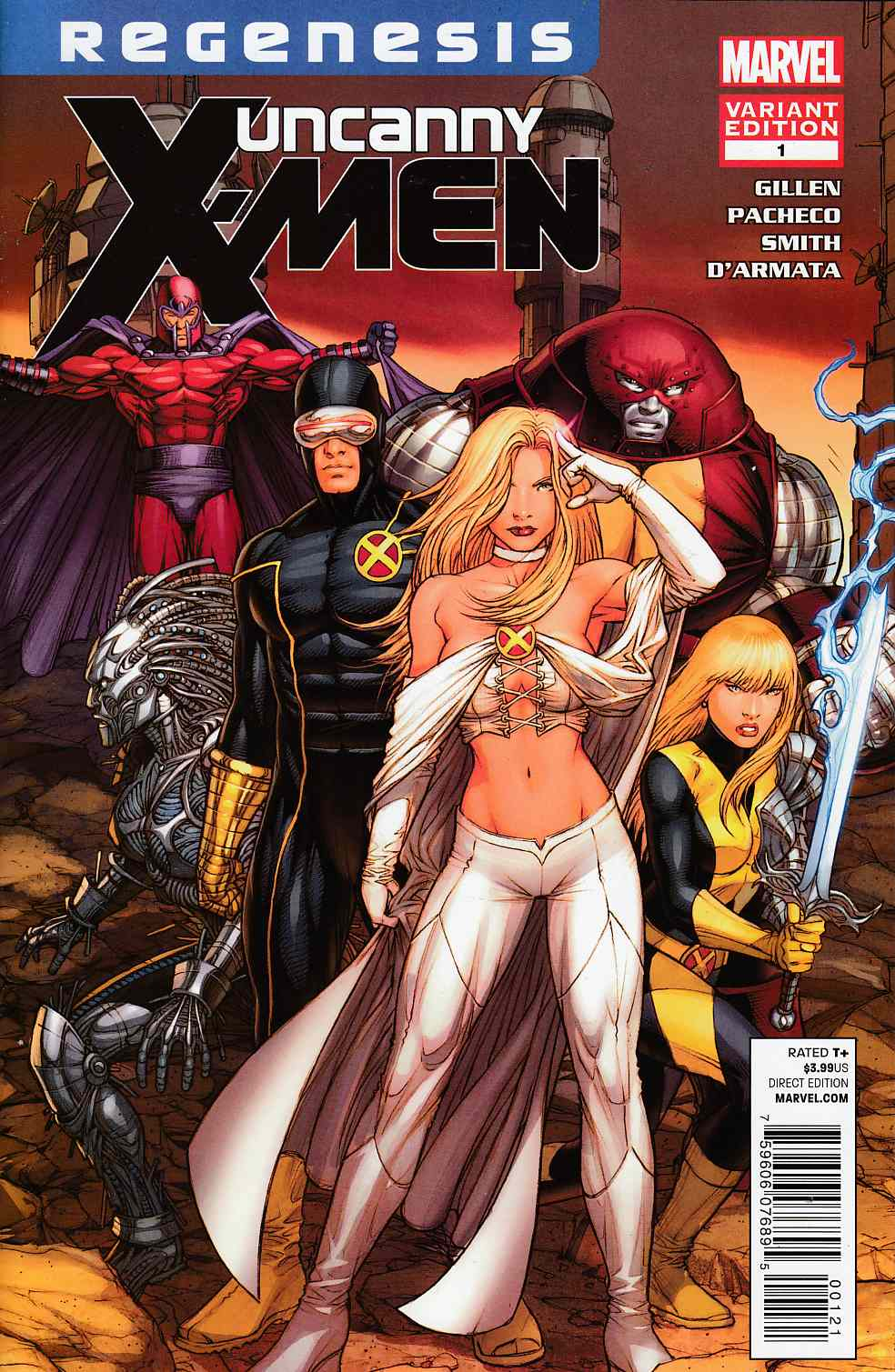 Uncanny X-Men #1 Regenesis Blue Keown Variant Cover Very Fine (8.0) [Marvel Comic] THUMBNAIL