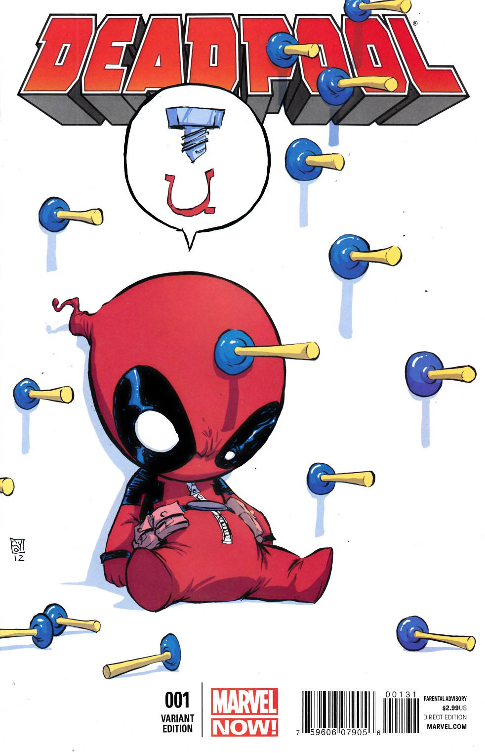 Deadpool #1 Young Baby Cover Near Mint Minus (9.2) [Marvel Comic] THUMBNAIL