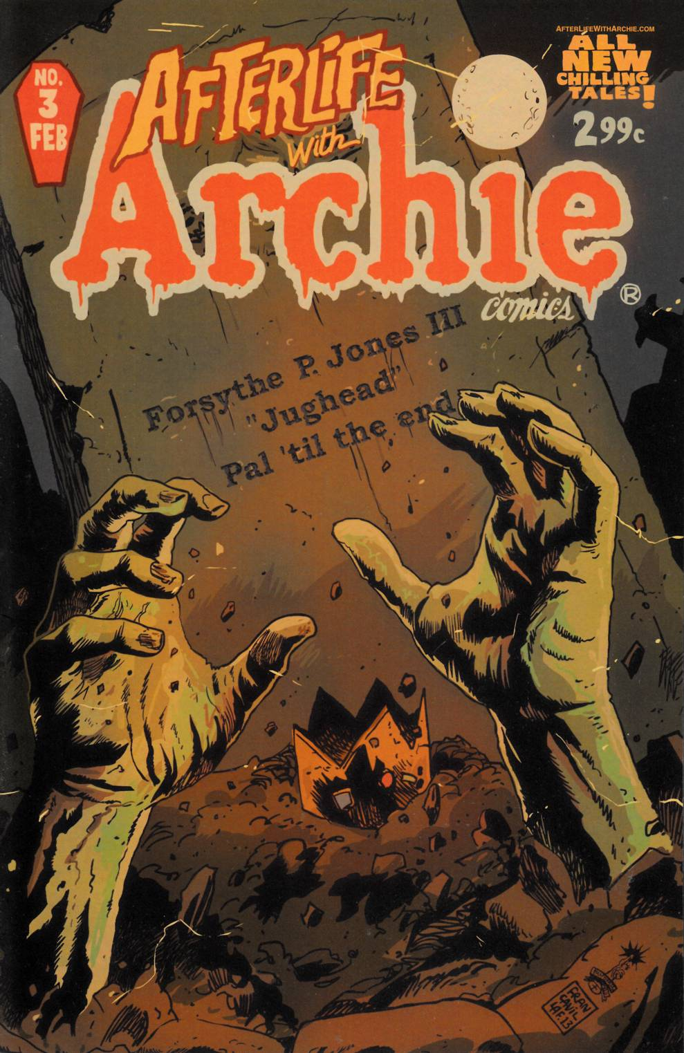 Afterlife With Archie #3 Near Mint Minus (9.2) [Archie Comic]