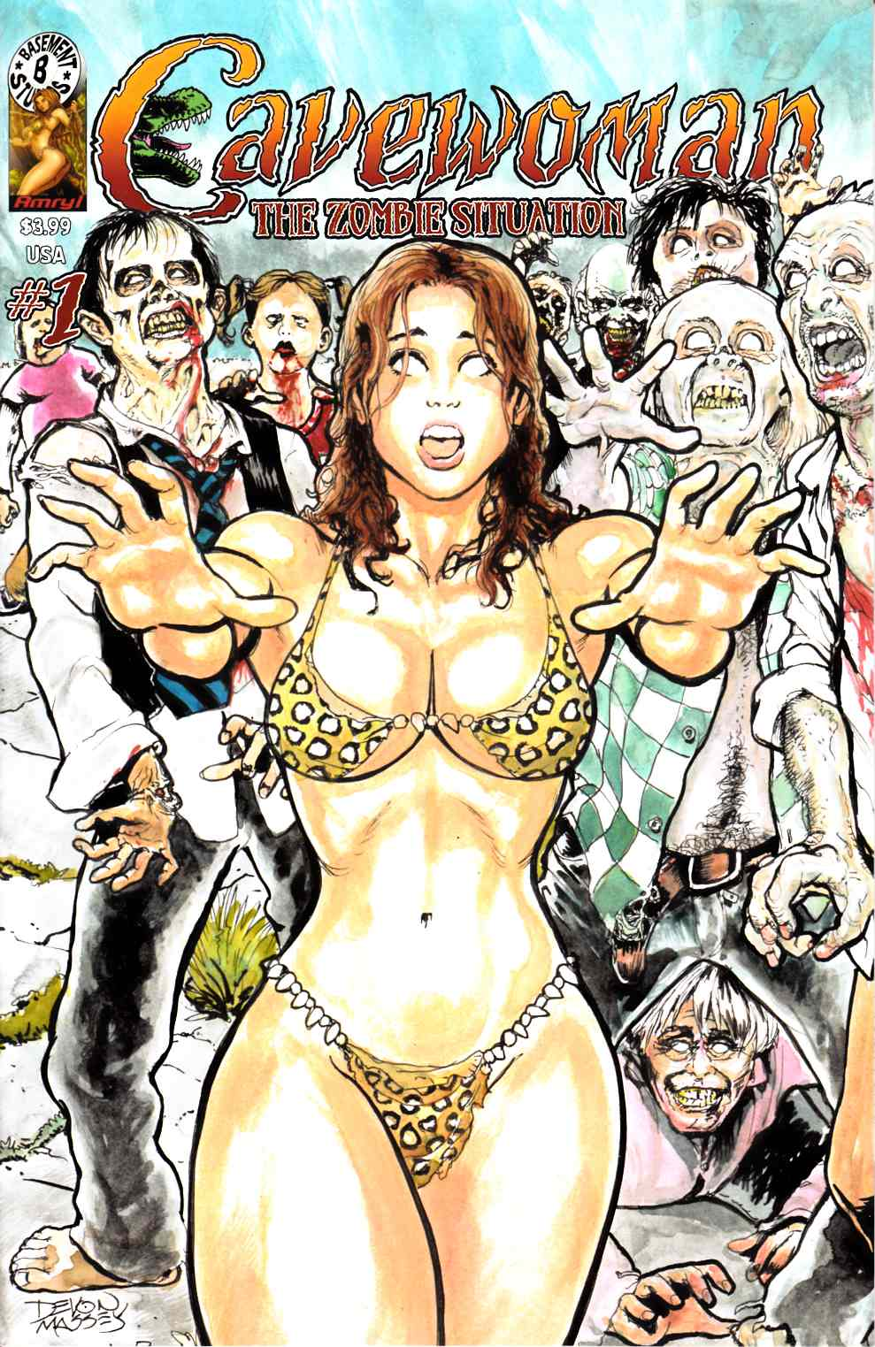 Cavewoman Zombie Situation #1 Near Mint Minus (9.2) [Amryl Comic] THUMBNAIL