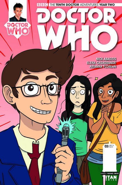 Doctor Who 10th Doctor Year 2 #3 Rachael Smith Variant Cover [Titan Comic]_THUMBNAIL