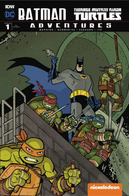 Batman TMNT Adventures #1 Cover RIB [IDW Comic]