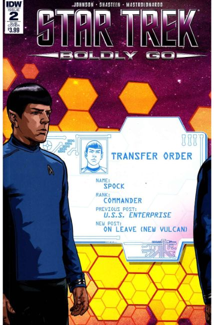 Star Trek Boldly Go #2 Subscription Cover [IDW Comic] THUMBNAIL
