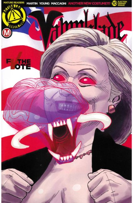 Vampblade #10 Cover F- Election Risque [Danger Zone Comic] THUMBNAIL