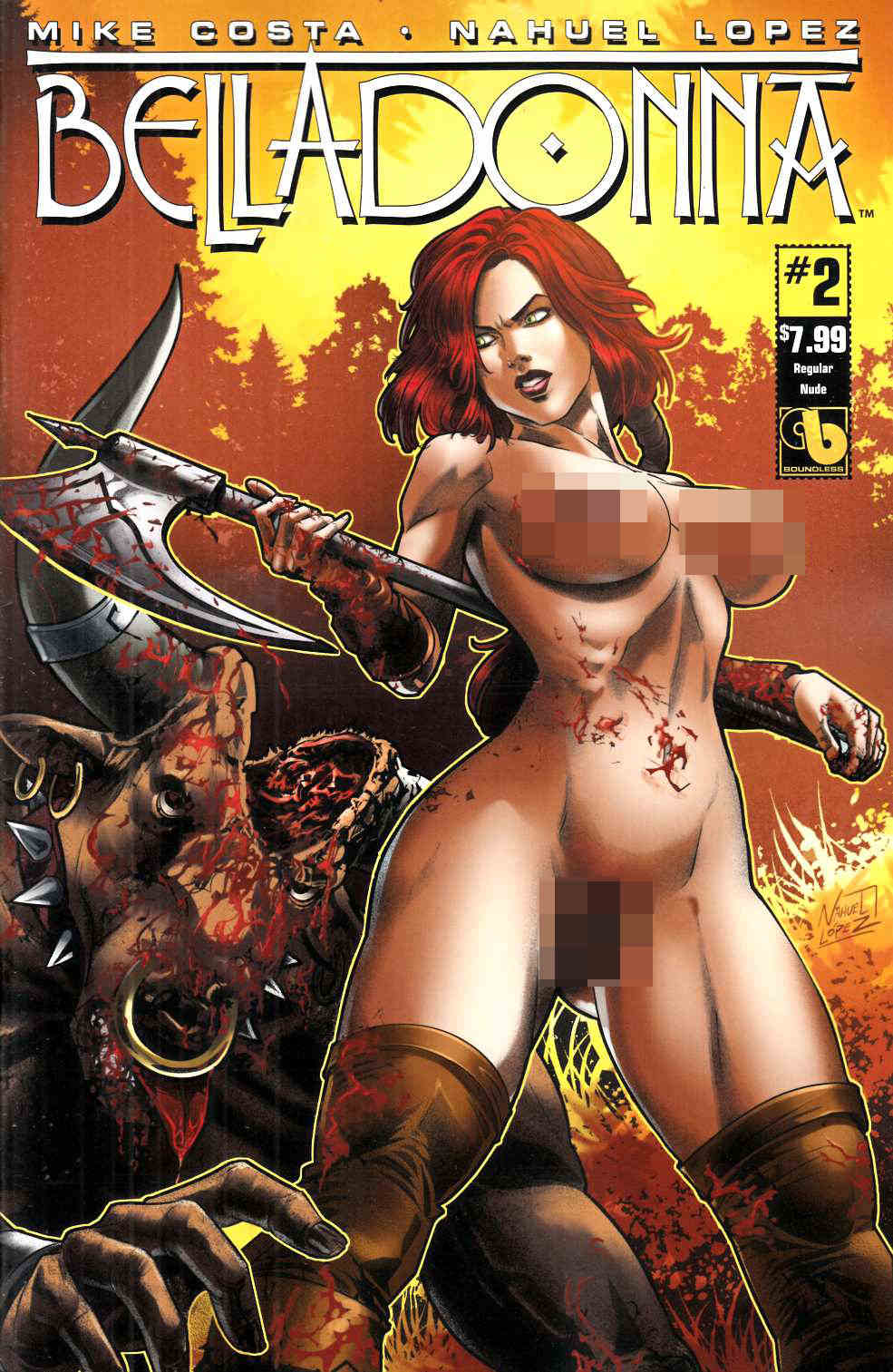 Belladonna #2 Nude Cover [Boundless Comic] THUMBNAIL