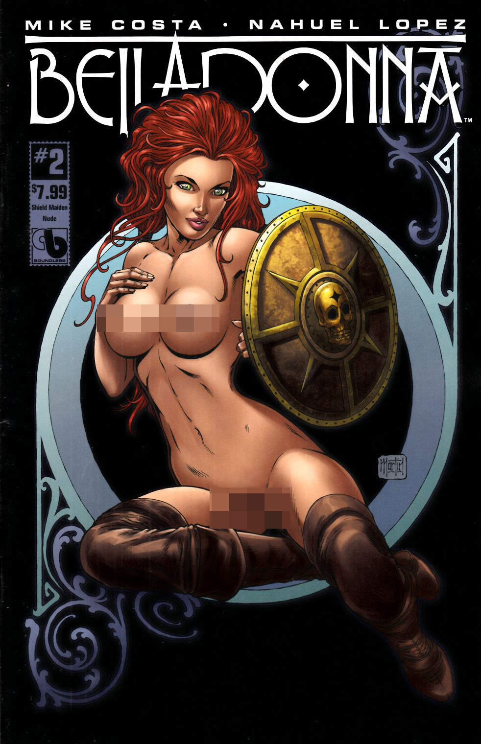 Belladonna #2 Shield Maiden Nude Cover [Boundless Comic] THUMBNAIL