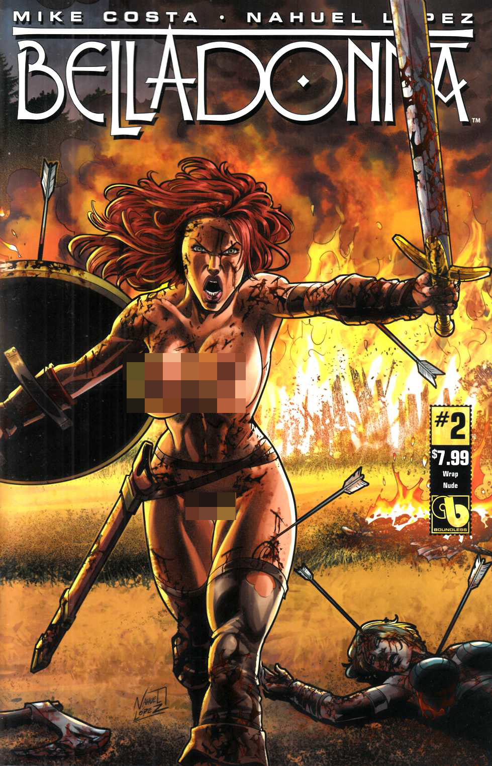 Belladonna #2 Wrap Nude Cover [Boundless Comic] THUMBNAIL