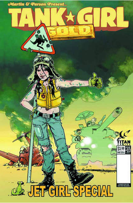 Tank Girl Gold #3 Cover B [Titan Comic]