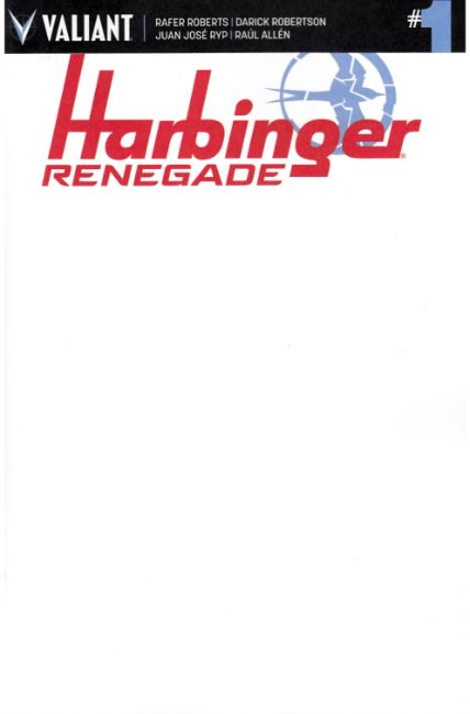 Harbinger Renegade #1 Cover F- Blank [Valiant Comic] THUMBNAIL