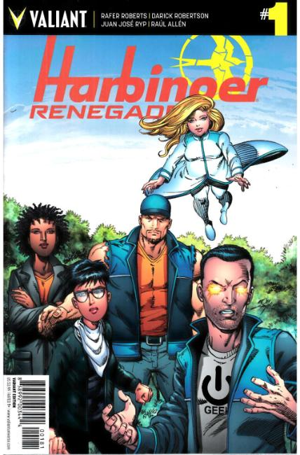Harbinger Renegade #1 Cover H- Layton Incentive [Valiant Comic] THUMBNAIL