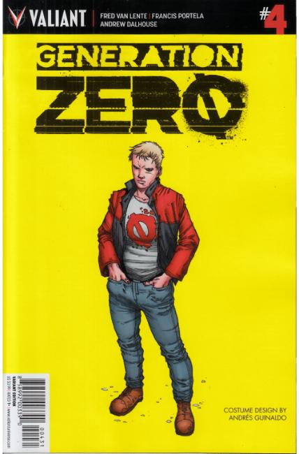 Generation Zero #4 Cover C- Character Design Incentive [Valiant Comic] THUMBNAIL