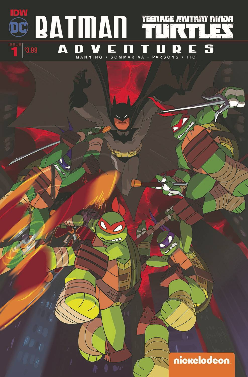 Batman TMNT Adventures #1 Second Printing [IDW Comic]