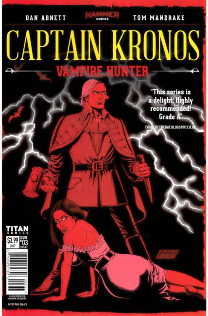 Captain Kronos #3 Cover C [Titan Comic]