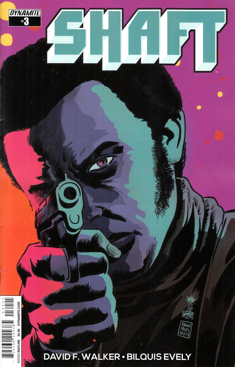 Shaft #3 Cover B- Francavilla [Dynamite Comic]
