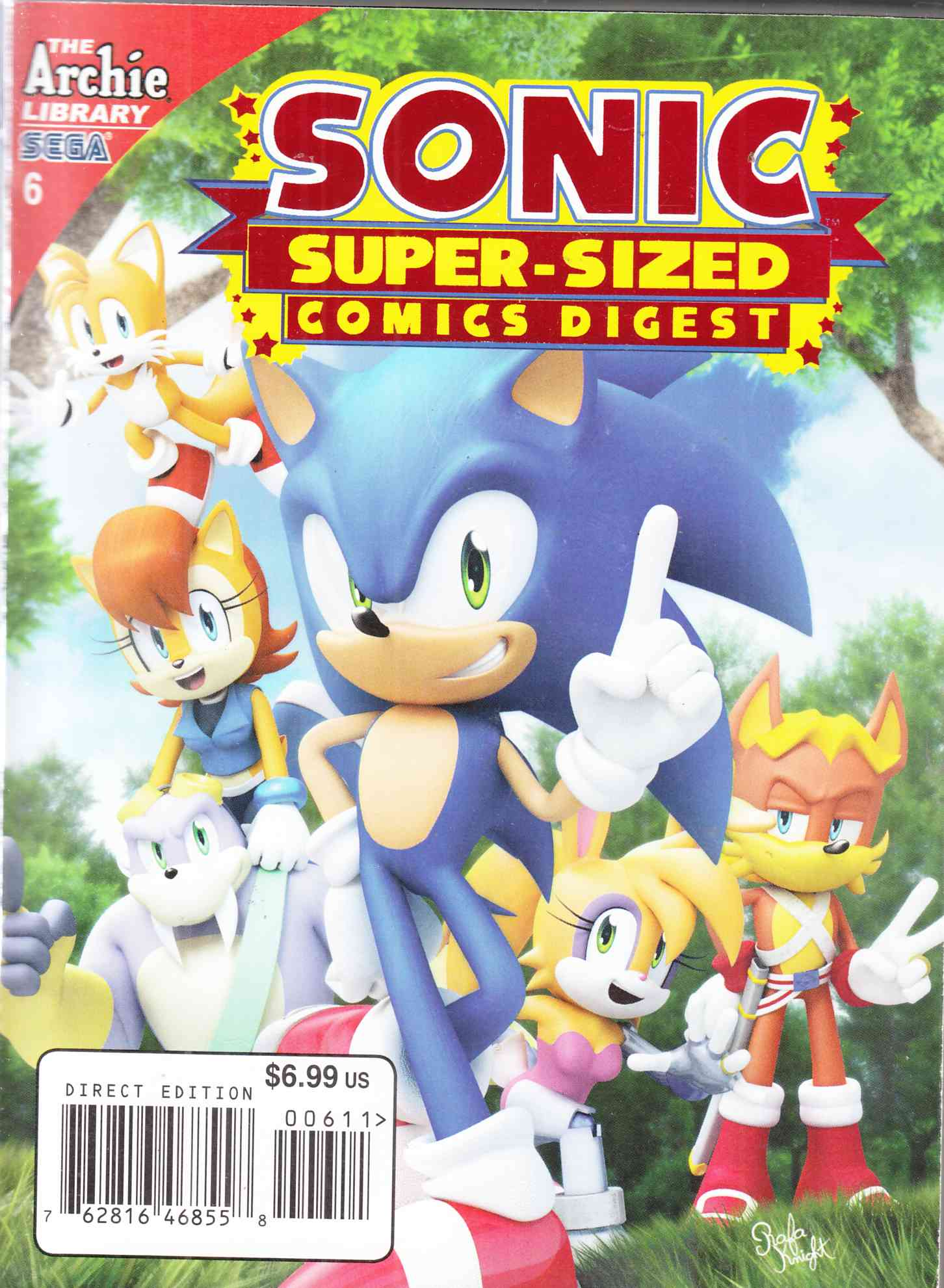 Sonic Super Digest #6 Super Sized Fine Plus (6.5) [Archie Comic]_THUMBNAIL