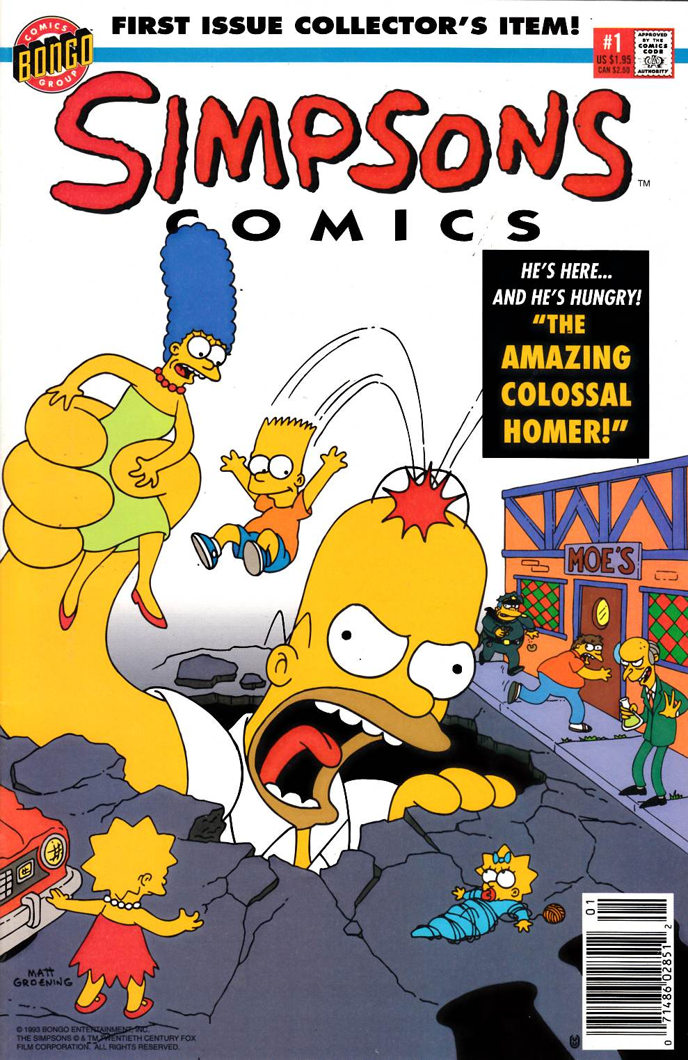 Simpsons Comics #1 Newsstand Edition Near Mint Minus (9.2) [Bongo Comic] THUMBNAIL