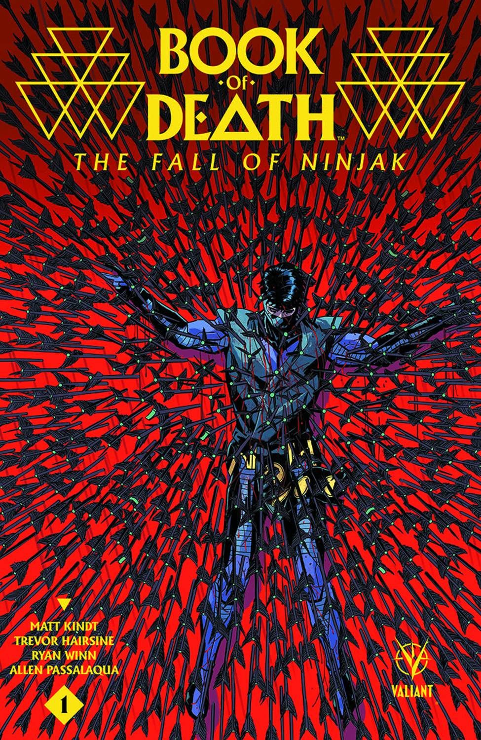 Book of Death Fall of Ninjak #1 Second Printing [Valiant Comic] LARGE