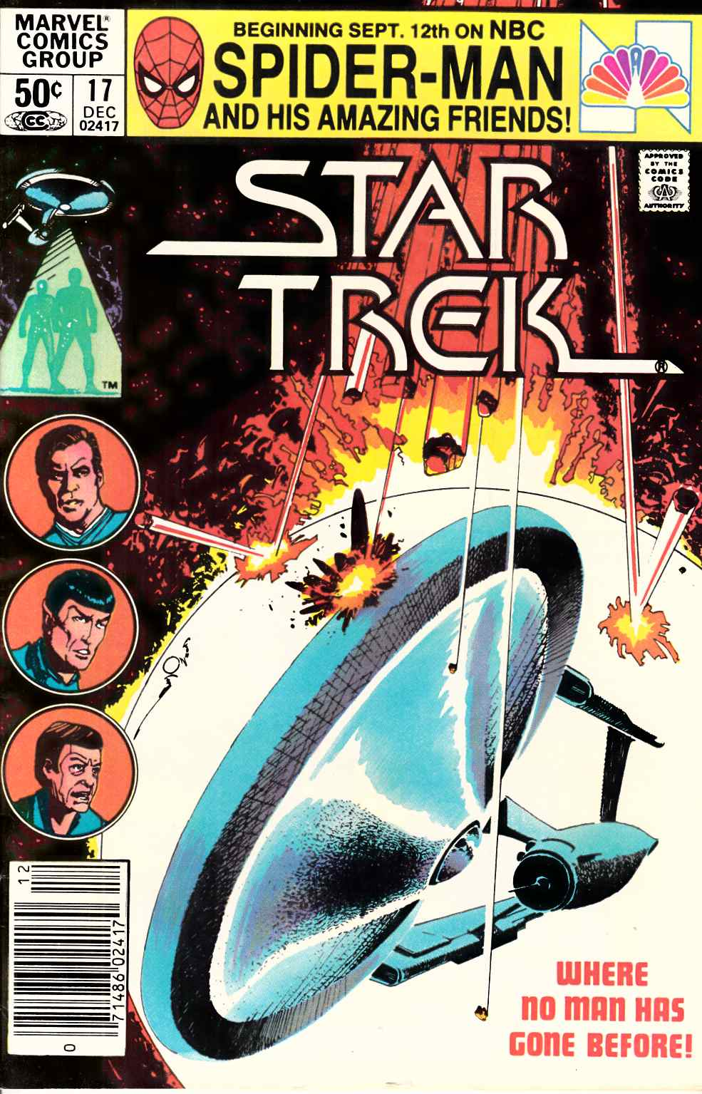 Star Trek #17 Newsstand Edition Very Fine Minus (7.5) [Marvel Comic] LARGE