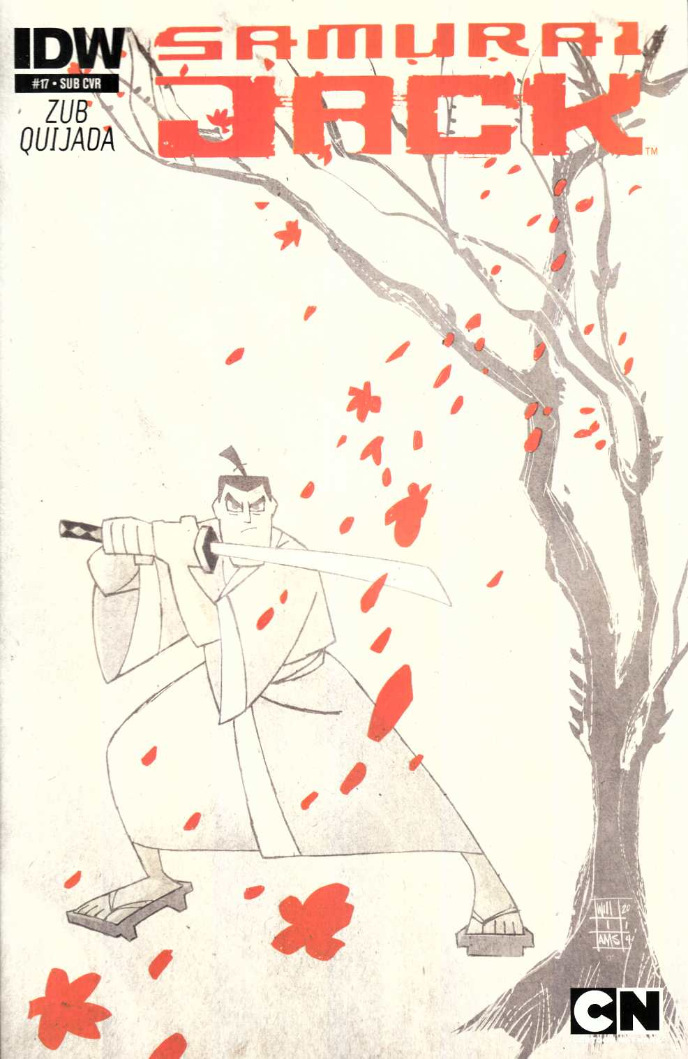 Samurai Jack #17 Subscription Cover [IDW Comic] THUMBNAIL