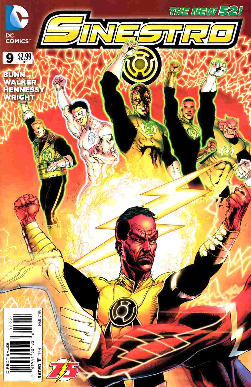 Sinestro #9 Flash 75th Variant Cover [DC Comic] LARGE