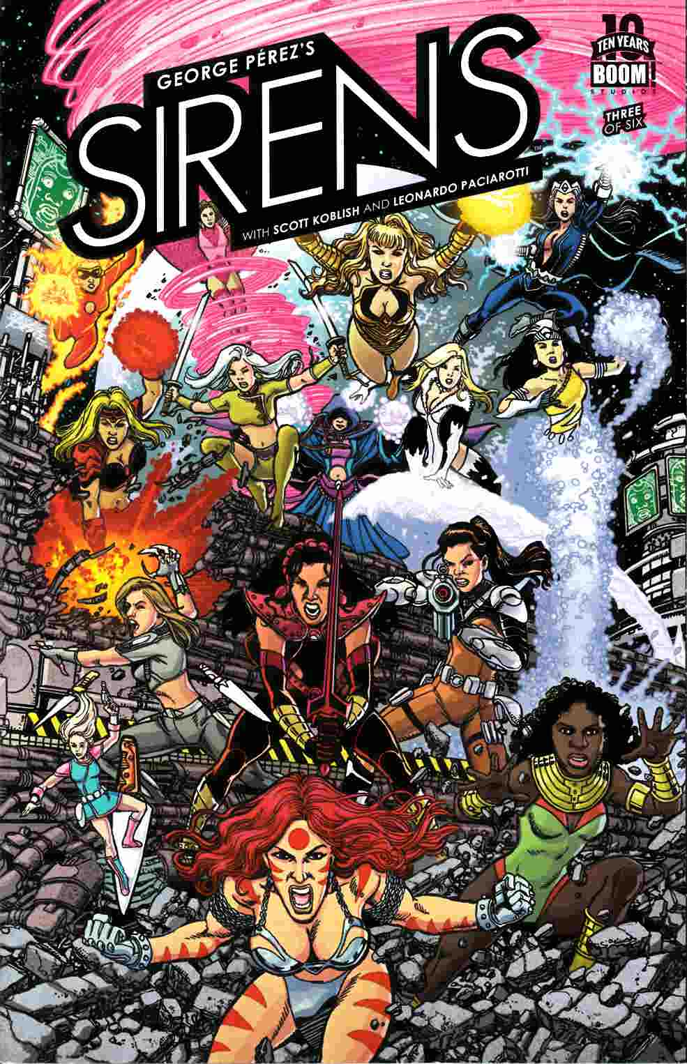 George Perez Sirens #3 [Boom Comic] LARGE