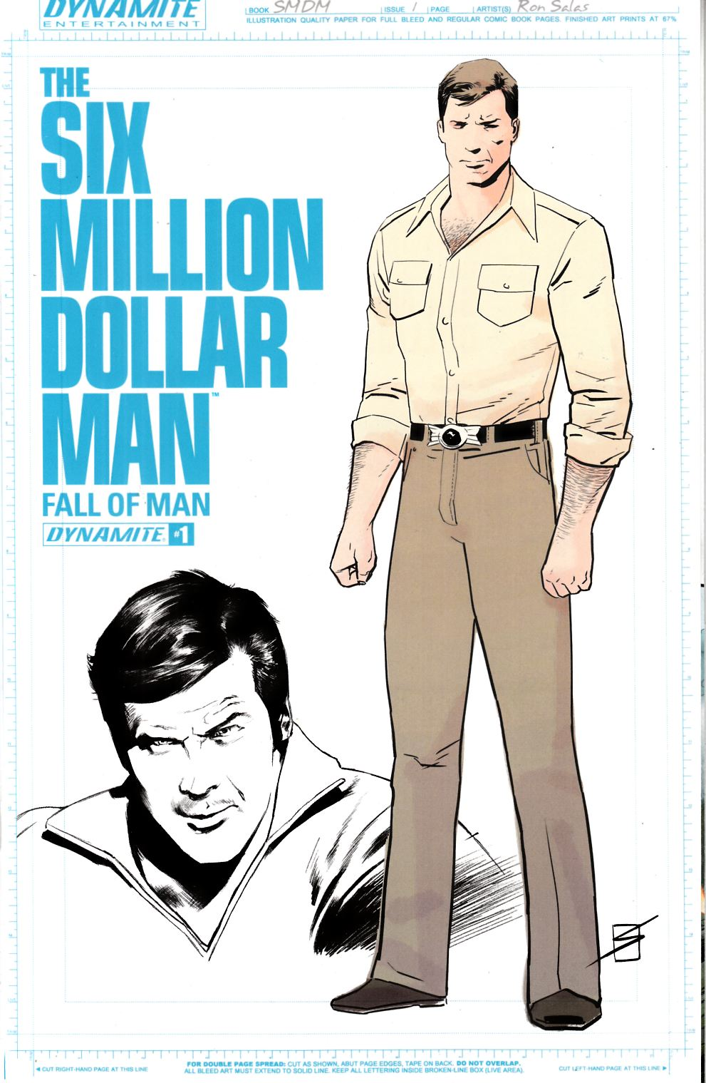 Six Million Dollar Man Fall #1 Cover B- Salas Variant Cover [Dynamite Comic] LARGE