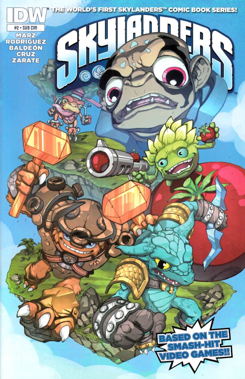 Skylanders #2 Subscription Cover [IDW Comic] THUMBNAIL