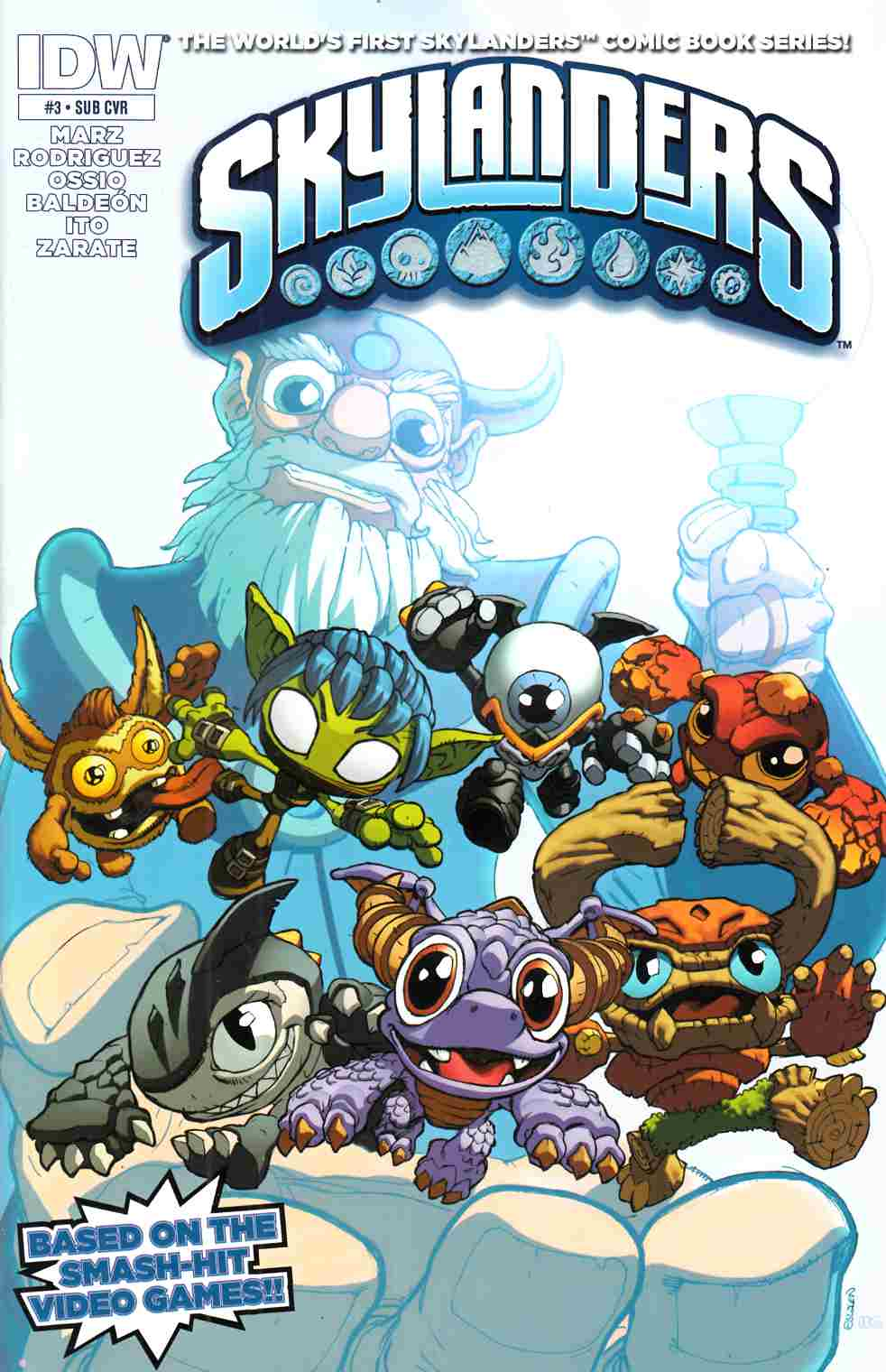 Skylanders #3 Subscription Cover [IDW Comic]_THUMBNAIL