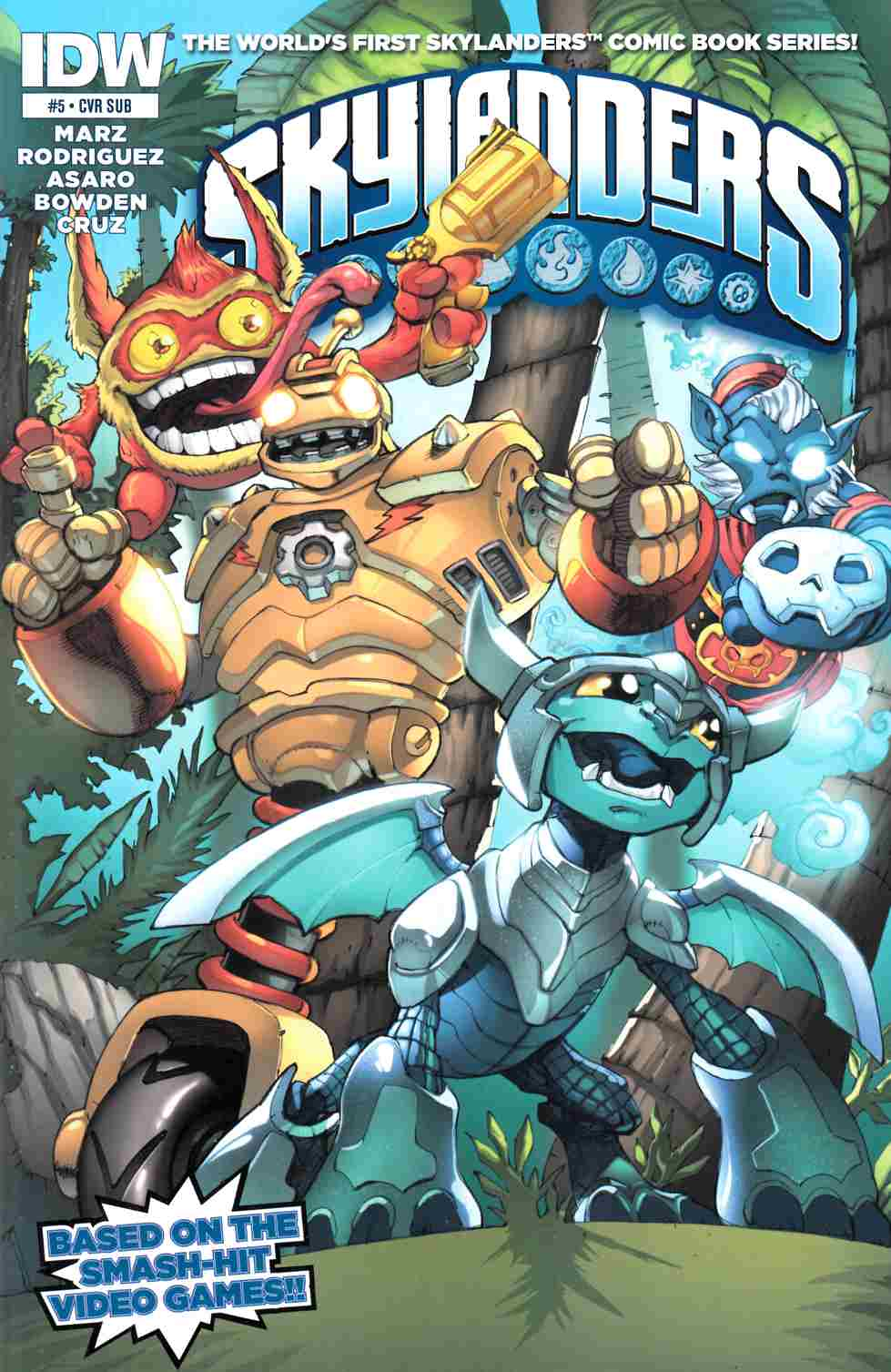 Skylanders #5 Subscription Cover [IDW Comic]_THUMBNAIL