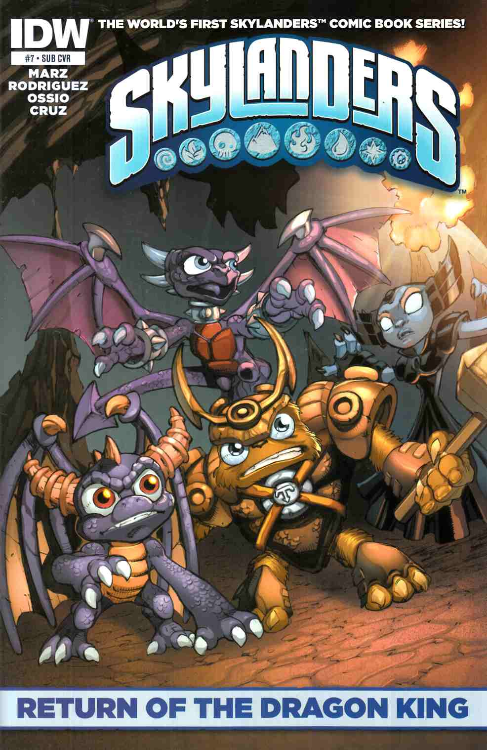 Skylanders #7 Subscription Cover [IDW Comic] THUMBNAIL