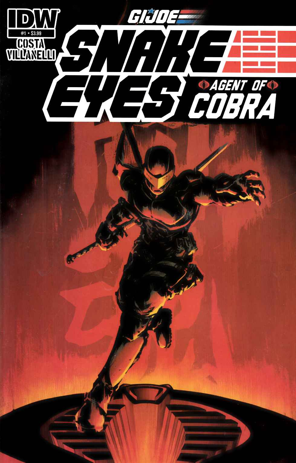 GI Joe Snake Eyes Agent of Cobra #1 [IDW Comic] LARGE