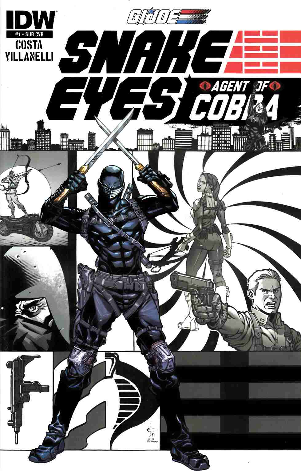 GI Joe Snake Eyes Agent of Cobra #1 Subscription Cover [IDW Comic] LARGE