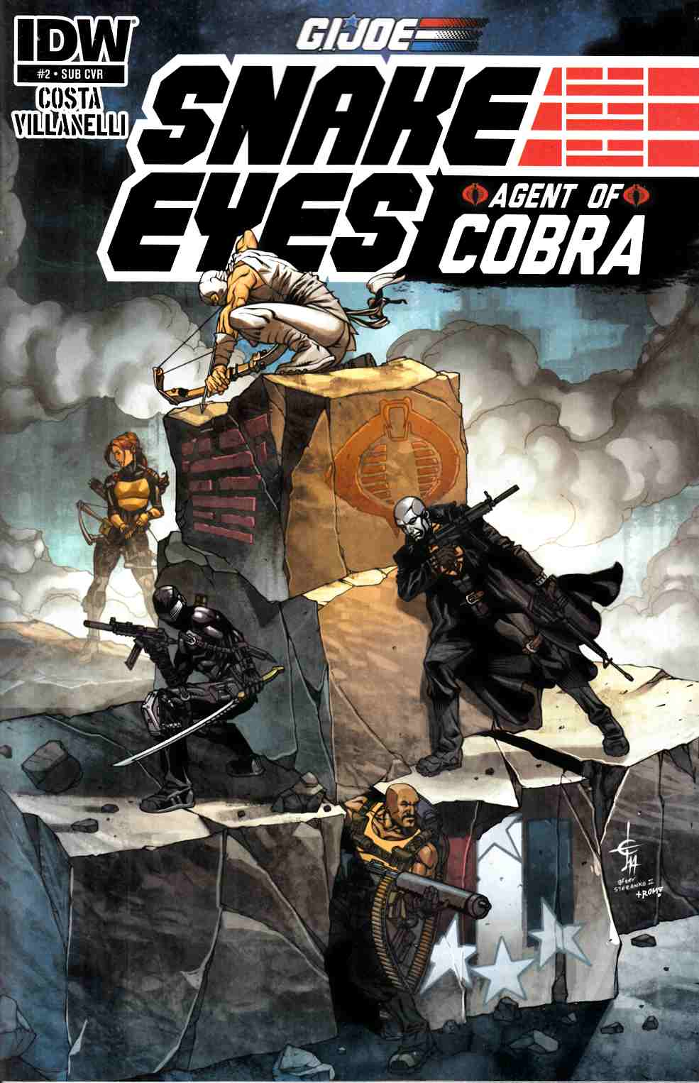 GI Joe Snake Eyes Agent of Cobra #2 Subscription Cover [IDW Comic]