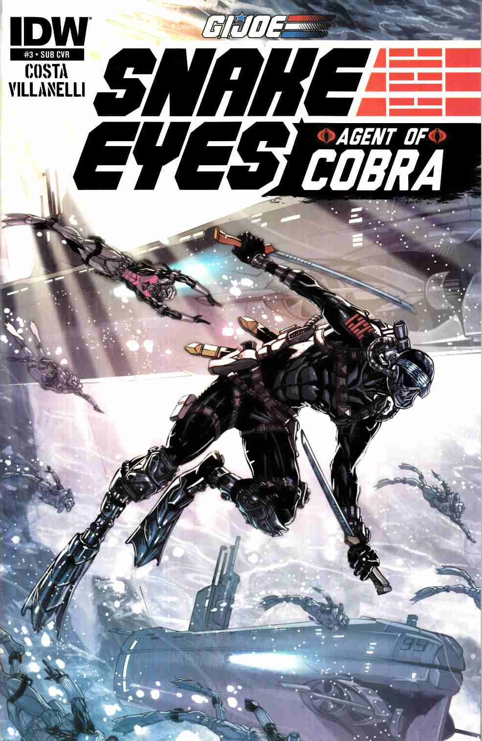 GI Joe Snake Eyes Agent of Cobra #3 Subscription Cover Near Mint (9.4) [IDW Comic]